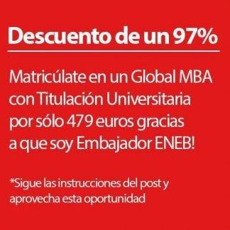 Cupón de descuento para MBA